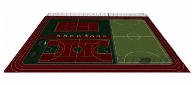 Строительство еще одной спортивной площадки в Болграде 2